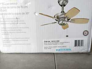 Canfield 30'' Indoor/Outdoor OilBrushed Bronze Downrod Mount Ceiling Fan KICHLER