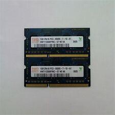 Hynix 2GB (2x1GB) DDR3 1066MHz PC3-8500SLaptop Memory RAM (HMT112S6BFR6C-G7)