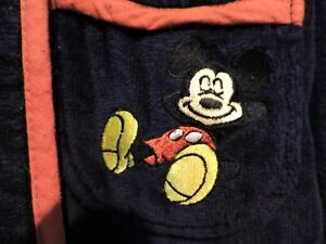 The Disney Store Navy/Red Dressing Gown Tie Belt Mickey Mouse Size XL