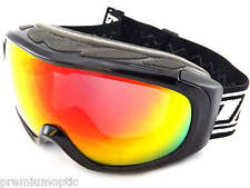 DIRTY DOG small-med PARK ski snow Goggles BLACK / FIRE-RED Fusion MIRROR 54169