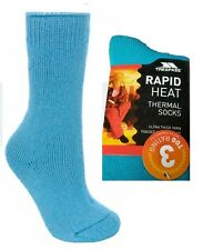 58636bd93c4fe Trespass Womens Ultra Thick Socks Warm Winter Thermal Tog 3 Rated Ladies  6/9 Blue