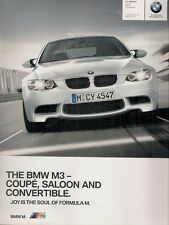 BMW M3 E90 2010-11 UK Market Sales Brochure 3-Series Saloon Coupe Convertible