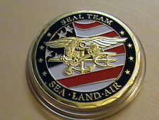 U.S.N.NAVY SEAL TEAM~SEA~LAND~AIR~Challenge Coin~Silver Dollar Size+FreeGift