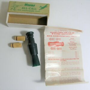 Vintage Weems All-Call Predator Call with Box & Instructions