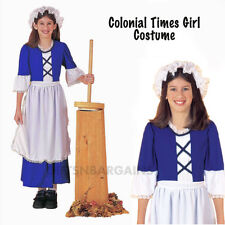 Little Miss Colonial Pilgrim Blue Small 4 - 6 Girls Costume