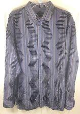 Jhane Barnes Casual Shirt Size xxl  ttg multi color long Sleeve Shirt