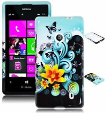 For Nokia Lumia 521 Blue and Yellow Lilly Design Hard Case Cover