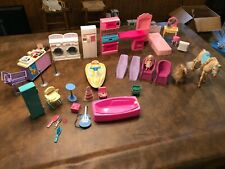Vintage Lot of Barbie Mattel Items Furniture, Kitchen other Miscellaneous Pieces