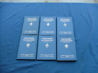 1933 Packard Salesmanship assignment books (6) hardcover, nice! salesman, dealer