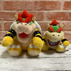 USJ Limited Bowser Bower Jr. Plush Set of 2 Japan Super Nintendo World