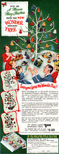 Christmas Wonder Tree HORS D'OEUVRES Crystal-like FLORAL CENTERPIECE 1950 Ad