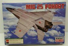 New Minicraft Russian USSR MiG 25 Foxbat Jet Fighter Military Aircraft Model Kit
