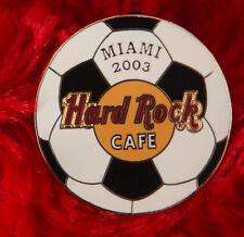 Hard Rock Cafe Pin MIAMI SOCCER Ball football logo florida usa team hat lapel