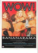 "BANANARAMA Wow UK magazine ADVERT / mini Poster 11x8"""