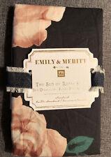 Pottery Barn Teen Emily Meritt Bed Of Roses Floral Black Standard Sham
