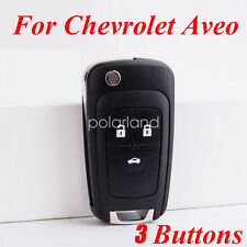 3 Buttons New Car Remote Control Black Key Shell Case Housing For Chevrolet Aveo