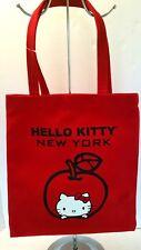 23a190ef55e Hello Kitty New York Red Canvas Tote Bag Shopper Parrot Canvas Co USA RARE  HTF