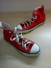 Ladies Converse All Star Chuck Taylor Red Canvas Hi Top Trainers UK 4 EU 36.5