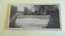 Cigarette Card J.A. Pattreiouex Views Small Dam 1933 (No Numb.) Exc Cond 35