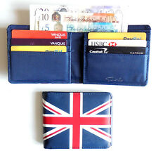 British Flag Union Jack Wallet 6 card slots coin pocket 2 note sections