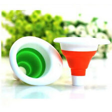 Mini AD Silicone Gel Practical Collapsible Foldable Funnel Hopper Kitchen Tool
