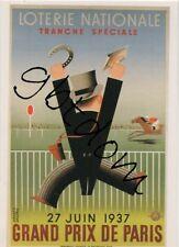 CP Loterie Nationale Grand Prix de Paris 1937 - fer tiercé quinté course cheval