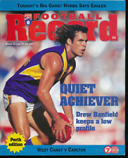 1997 VFL Football Record West Coast Eagles v Carlton Unmarked June 27 - 29 Lions