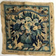 RARE EHRMAN KAFFE FASSETT HARVEST BOWL NEEDLEPOINT TAPESTRY Completed Cushion ?