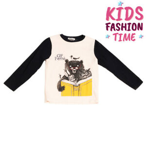 GF FERRE' T-Shirt Top Size 4Y Printed Front Long Sleeve