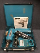 WORKING Makita Cordless Driver Drill 6093D 9.6V DC Battery, Charger, Case, Key