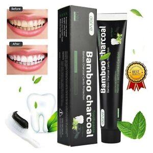 Dentifricio al carbone, Pulizia Intensiva, Dentifricio Sbiancante, 100% Naturale