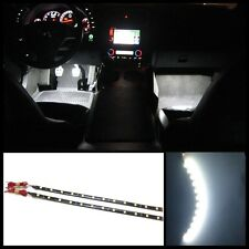 """2X 12"""" White 12 SMD LED interior strip footwell ambient light exterior xenon #B1"""
