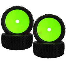 4PCS RC 1:8 Off-Road Car Buggy Foam Rubber Tyre Tires & Wheel Rim Green 81G-801