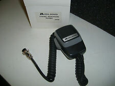 NEW MIDLAND CB, TWO WAY RADIO, AMPLIFIED MICROPHONE TRANSCEIVER FIST MIC MIKE