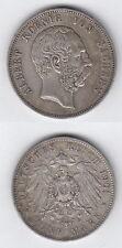 Kaiserreich 5 Mark  Albert  König von Sachsen 1901 E Silber