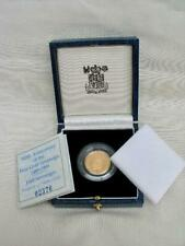Mint Condition 1989 Tudor Rose Half Sovereign Sealed in Capsule With Box & COA.