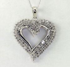 Collares y colgantes de joyería con diamantes en oro blanco de 10 quilates diamante