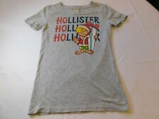 Hollister California Women's Junior's short sleeve t shirt S small Surfer EUC--