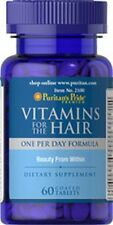 Vitamins for the Hair x 60 Coated Caplets Puritan's Pride  - 24HR DISPATCH