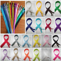 12inch Star Lace Closed End Zippers 3# Nylon Sewing( 5-200Pcs) (20 color)~