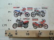STICKER,DECAL HONDA CB1100R, CBR400F, MVX250F AND SUZUKI GSX750 POLICEBIKE