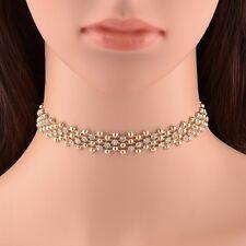 Fashion Charm Jewelry Crystal Choker Chunky Statement Bib Pendant Necklace