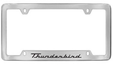 Ford Thunderbird Bottom Chrome Plated Metal License Plate Frame Holder 4 Hole