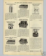 1951 PAPER AD Coleman Gas Gasoline Pocket Stove Camp Stoves Plant Table Top