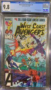 West Coast Avengers #4 CGC 9.8 (1984) - #4 in a four-issue limited series