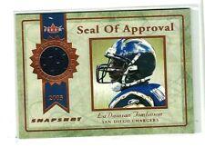 LaDAINIAN TOMLINSON 2003 FLEER  SEAL OF APPROVAL GAME USED JERSEY#/375 ~ HOF