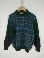 AUSTRALIAN BY L'ALPINA MAGLIONE VINTAGE MADE IN ITALY Cardigan Tg 50 Uomo