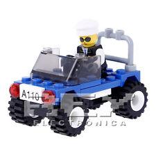 Coche Policía Construcción Juguete Niño 41 Piezas ¡Desde ESPAÑA! j164
