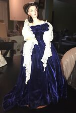 Franklin Mint Scarlett O'Hara Gone with the Wind Porcelain Portrait Doll 18""