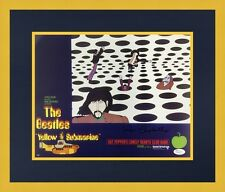 Ron Campbell Beatles Yellow Submarine Signed Lobby Card L/ED Set Custom Framed 7